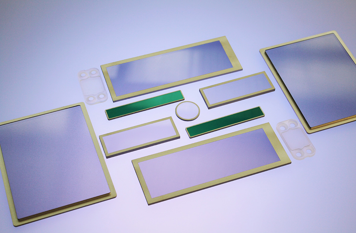 shielded optical windows EMI or RFI seals gaskets
